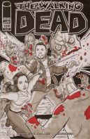 Custom Walking Dead Sketch Cover by calslayton