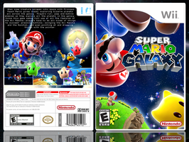 Super Mario Galaxy boxart 2 by yoman44