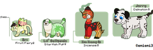 Character Lineup [Small OC's] by emiemi345