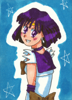 Sailor Saturn ATC by Angie-Laura
