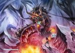 A Burning Battle by Dragolisco