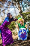 Ravio and Link hanging out by chanellenumber5