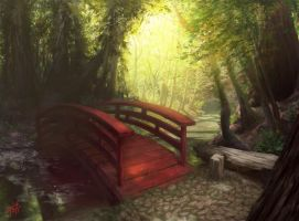 L5R - Forest Bridge by AnthonyFoti