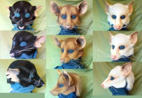 LARP RAT MASKS by Magpieb0nes