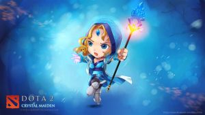 WALLPAPER:  Crystal Maiden DOTA 2 Chibi style by VirtualMan209