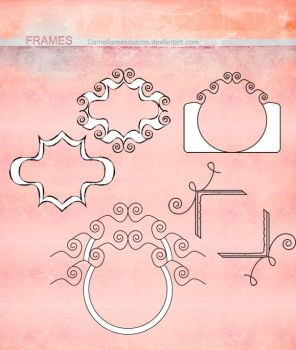 small Clip art frames by cameliaRessources