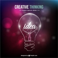Creative thinking conceptual vector by freebiespsd