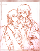 Imiya and Tris - sketch ver. by ruina
