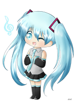 Chibi Miku by Ailish-Lollipop
