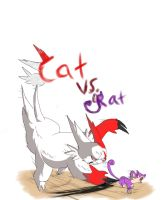 Cat vs. Rat by LeemonZ