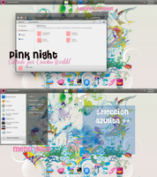 Pink Night (Win7 Theme) by Coockie-Worldd