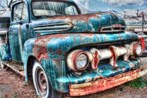 1951 Ford Pick up Truck right front by DarkPhoenix36