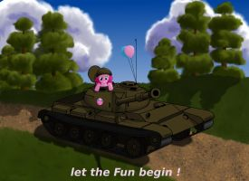 Pinkie Pie in t-54 by Ter0k