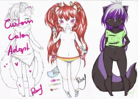:: Custom Palette Unikitty[OPEN] and Adopts set :: by Chewy-Adopts