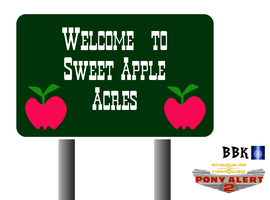 Sweet Apple Acres sign by BB-K