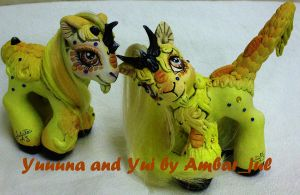 my little customs kirin twins by AmbarJulieta