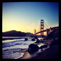 Golden Gate Bridge at Dusk by dagenwalker
