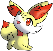Fennekin Fan Art - Ken Sugimori Style by Honokumakun