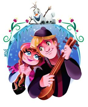 Anna and Kristoff by mi-chie