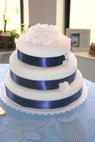 Simple wedding cake by diepretty9