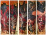 Spider-Man Leg Tattoo by SequinSuperNOVA