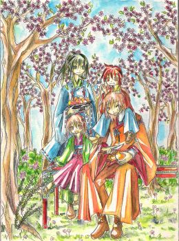Original Character 3 Family by mkcs