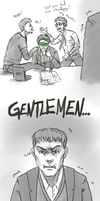 Pacific Rim/Avengers - The Science Team by AlbinoNial