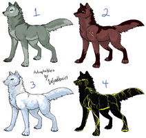 Wolf Adoptables - Closed by Wyndbain
