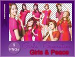 Girls and Peace  SNSD | 9 pngs by theniceparadise