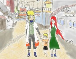 A Stroll in Konoha-as Family! by PeachBerryDivision
