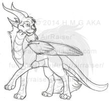 Cat Dragon 2 Sketch 2014 by AirRaiser