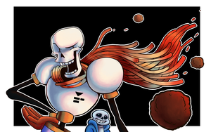 Undertale Papyrus and Sans Spahetti Scarf by DYW14