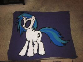 Vinyl Scratch Blanket by Earth-pony-mischief