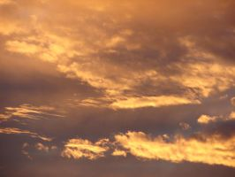 Twilight Orange Clouds Sky 10 by FantasyStock