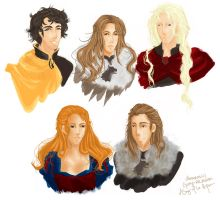ASOIAF - Character Sketches by a-pikachu