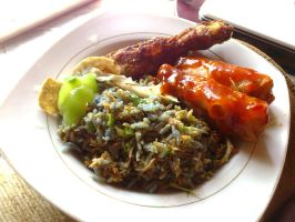 Nasi Kerabu and Popia by plainordinary1