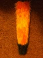 Orange and Black Fox Tail FOR SALE by Requiem-Owl