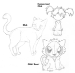 Two cats and a Chick by MBPanther