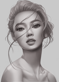 Shading/volume study by Amethylia