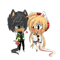::CHIBI AT:: with moriomii by AshleyShiotome
