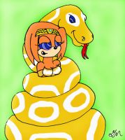 Tikal and her pet by lol20