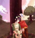 Aang and Toph sittin in a tree by KUNGPOW333