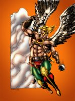 JLA January Hawkman by MarcBourcier