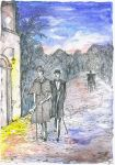Sherlock Holmes and doctor Watson by Ephaistien