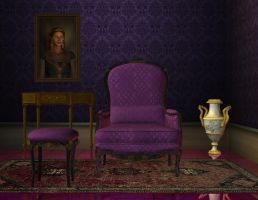 Room violet stock 3 by Ecathe