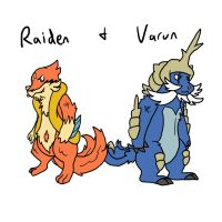 Raiden and Varun by Kame-Ghost