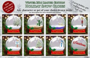 2014 Limited Edition Holiday Snow Globes - CLOSED! by daggerstale