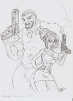 Maxime and Sophya gone gangsta by Aeolus06