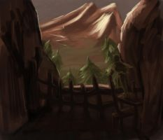 Speed Painting-Mountain Light by AlexIKaine