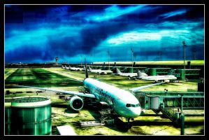 The Airlines Parking by RiegersArtistry